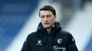 Vladimir Ivic, pictured, has been sacked by Watford (Tim Markland/PA)