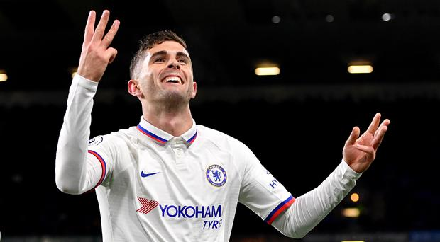 Christian Pulisic scored a hat-trick for Chelsea at Burnley (Anthony Devlin/PA)