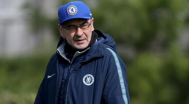 Maurizio Sarri does not think Champions League qualification will define Chelsea's season (Bradley Collyer/PA)