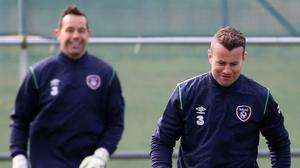 Shay Given, right, is targeting victory over Poland