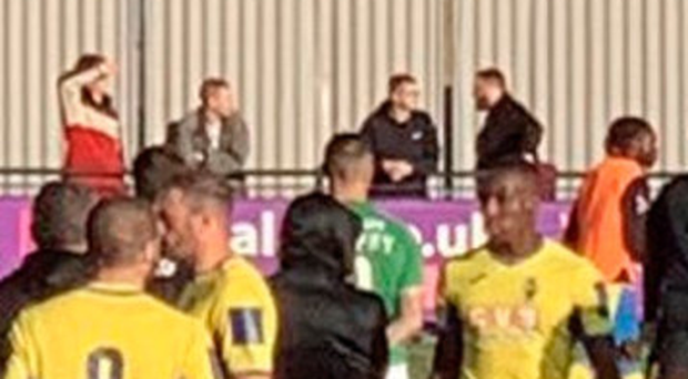 Taking stand: Haringey players walk off
