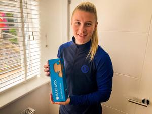 Beth England, Barclays Player of the Season, announced at the virtual Barclays FA WSL Awards.