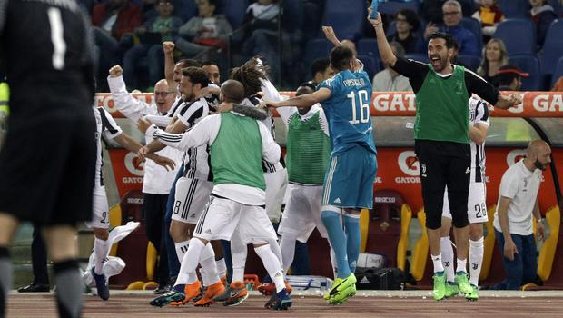 Juventus clinched the Serie A title with a draw against Roma