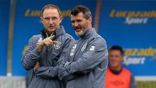 Republic of Ireland manager Martin O'Neill, left, would take a Euro 2016 play-off place now