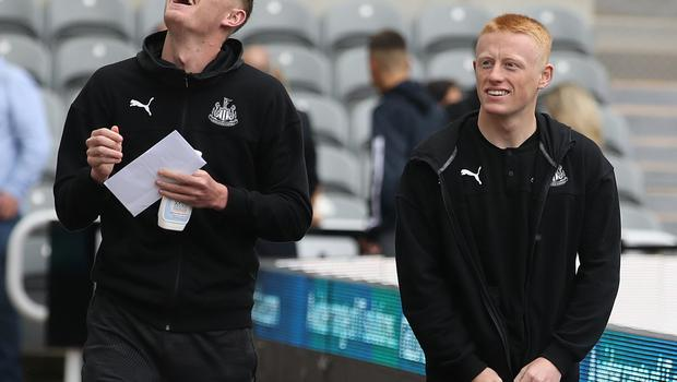 Matty Longstaff (right) has impressed more for Newcastle this season than brother Sean (left) (Owen Humphreys/PA)