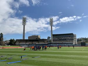 Manchester United train at the WACA in Perth (Simon Peach/PA)