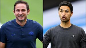 Frank Lampard and Mikel Arteta are bidding to win their first trophies (PA)