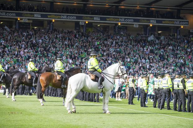 Crowd trouble marred Rangers' final defeat by Hibernian (Jeff Holmes/PA)