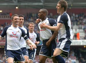 Jermain Defoe equalised for Spurs, but their afternoon ended in misery (Sean Dempsey/PA)