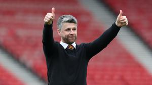 Stephen Robinson is in talks with Northern Ireland (PA)
