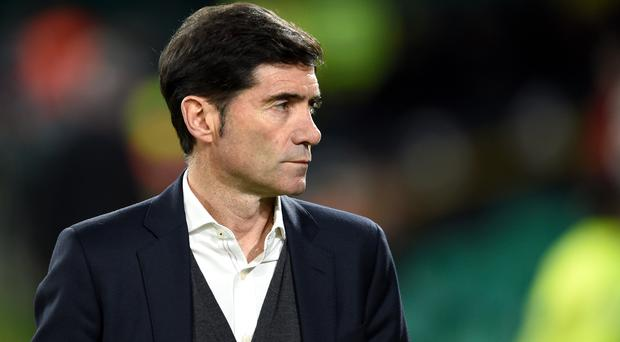 Valencia manager Marcelino is wary of their favourites tag (Ian Rutherford/PA)