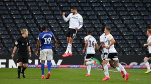 Aleksandar Mitrovic, centre, has scored more than 20 goals for Fulham during the 2019-20 Sky Bet Championship season (Dominic Lipinski/PA)