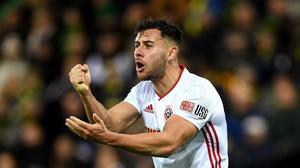 Sheffield United right-back George Baldock has held talks about playing for Greece (Joe Giddens/PA)