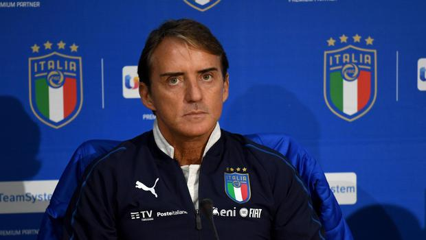 Roberto Mancini has set a new record for consecutive wins as Italy manager. (Claudio Giovannini/AP)