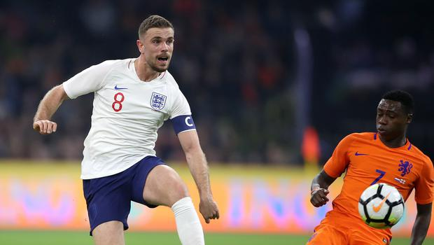 Jordan Henderson hopes to get a lift from England after Liverpool's Champions League heartbreak.