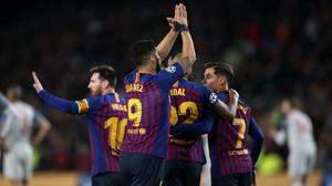 Barcelona are two points clear of Real Madrid atop the LaLiga standings (Nick Potts/PA)