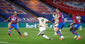 Anthony Martial wrapped up a 2-0 win at Crystal Palace on Thursday (Peter Cziborra/NMC Pool)