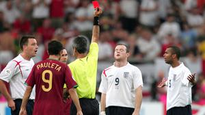 Wayne Rooney's 2006 World Cup ended in a red card (Martin Rickett/PA)
