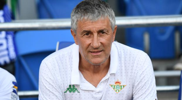 Quique Setien has taken over as Barcelona manager (Simon Galloway/PA)