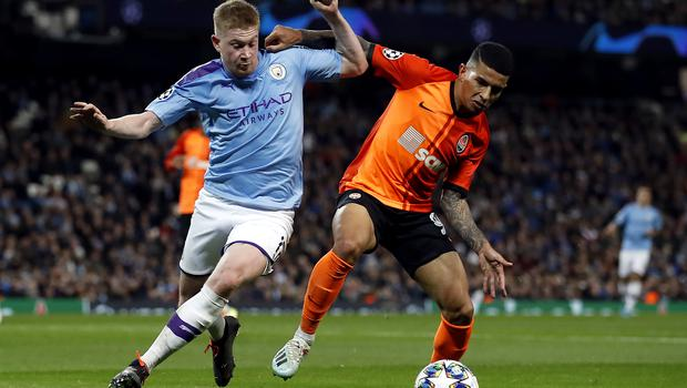 City laboured against Shakhtar but still secured top spot in Group C (Martin Rickett/PA)