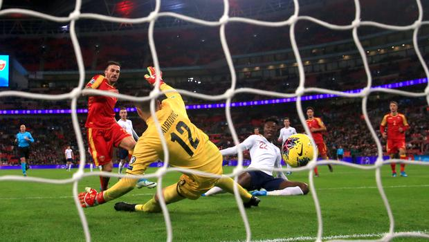 Abraham completed the scoring with a late close-range finish (Nick Potts/PA)