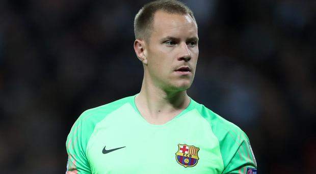 Marc-Andre Ter Stegen will miss the derby against Espanyol (Nick Potts/PA)