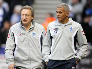 Curle (right) was working under Neil Warnock (left) when QPR won promotion in 2011 (Dave Thompson/PA)