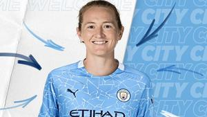 Manchester City Women's new signing Sam Mewis is eager to play in the Champions League (Credit: Manchester City)