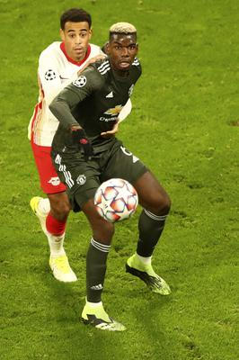 Pogba (right) came off the bench a day after his agent said he was unhappy at Old Trafford (Matthias Schrader/PA)