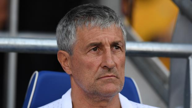 Quique Setien is confident Barcelona will find a solution to their striker shortage (Simon Galloway/PA)