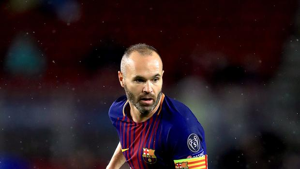 Andres Iniesta made his final Barcelona appearance on Sunday