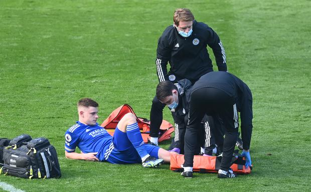 Gareth Southgate fears his England options for the Euros could be reduced by injuries with Leicester winger Harvey Barnes the latest to be sidelined.