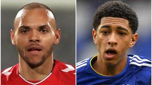 Denmark's Martin Braithwaite could leave Barcelona for the Premier League, while Jude Bellingham, right, is also in demand (Simon Cooper/Dave Howarth/PA)