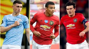 Phil Foden and Mason Greenwood are yet to play for England, while Harry Maguire has been a regular under Gareth Southgate (John Sibley/Dave Thompson/Martin Rickett/NMC Pool/PA).