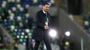 Ian Baraclough must quickly pick up his players after Thursday's disappointment (Brian Lawless/PA)