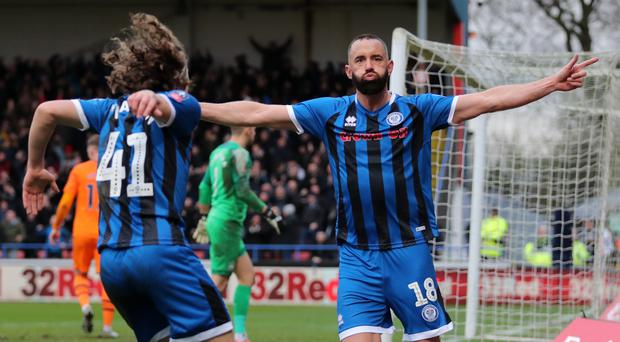 Rochdale's Aaron Wilbraham rolled back the years against Newcastle (Richard Sellers/PA)