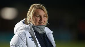Chelsea manager Emma Hayes is honoured to be linked with the England job (Adam Davy/PA)