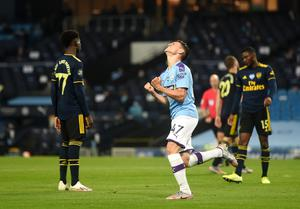 Arsenal lost 3-0 at Manchester City when Project Restart got under way (Peter Powell/NMC Pool)