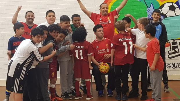 Youngsters at Liverpool's Arabic Centre are all Mohamed Salah fans.