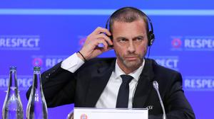 UEFA president Aleksander Ceferin has warned clubs in competitions cancelled prematurely may not be eligible for Europe next season (Niall Carson/PA)