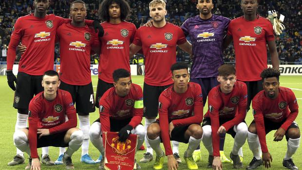 The line-up in Astana was Manchester United's youngest ever in Europe (AP Photo/Stas Filippov)