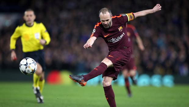 Andres Iniesta played his 669th and final game for Barcelona in the 1-0 win over Real Sociedad