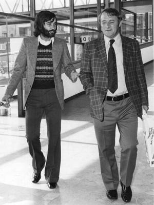 United days: Docherty with George Best