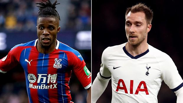 Wilfried Zaha and Christian Eriksen are mentioned in Tuesday's papers (Martin Rickett/ Tim Goode/ PA)