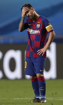 There were lows though – Messi was part of Barcelona's nightmare 8-2 Champions League defeat to Bayern Munich last month (Manu Fernandez/AP)