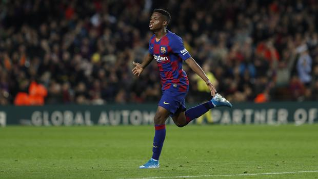 Ansu Fati bagged a brace for Barca (Joan Monfort/AP)