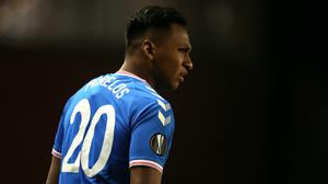 Rangers forward Alfredo Morelos had been streaming a video for fans (Andrew Milligan/PA)