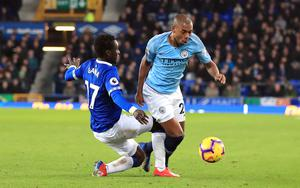 Midfielder Fernandinho has been employed in defence due to injuries (Peter Byrne/PA)