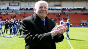 Dave Whelan says he will see if he can do anything to help Wigan (Barrington Coombs/PA)