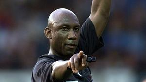 Sheffield's Uriah Rennie was the last black referee to officiate in the Premier League but he retired in 2009. (David Davies/PA)